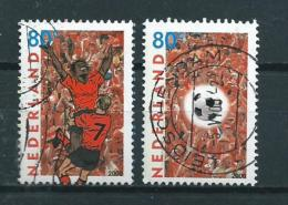 2000 Netherlands Complete Set Football,soccer Used/gebruikt/oblitere - Periode 1980-... (Beatrix)
