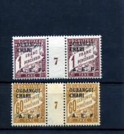 Oubangui- Chari _ 2 Millésimes Chiffre Taxe Surchargé AEF_ (1927 )