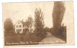 SIMSBURY, CT - CARTE PHOTO - PHOTO CARD - 1909 - RESIDENCE Peter M. Pornmeau - Etats-Unis