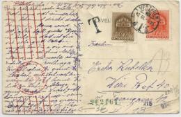 HONGRIE - 1942 - CARTE Avec CENSURE ALLEMANDE + TAXE De VESZPREM Pour WIEN - Marcophilie