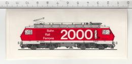 SBB CFF FFS - Re 4/4 IV - Bahn 2000 - Rail 2000 -  Ferrovia 2000 ° Autocollant / Adesivi / Aufkleber / Stickers - Autocollants
