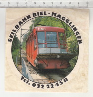 Seilbahn Biel-Magglingen - Funiculaire Bienne-Macolin ° Autocollant / Adesivi / Aufkleber / Stickers - Autocollants