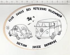 Club Suisse Des Vétérans Volkswagen - Section Suisse Romande ° Autocollant / Adesivi / Aufkleber / Stickers - Autocollants