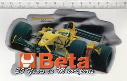 F1 Jordan Official Supplier - Beta 30 Years In Motorsports ° Autocollant / Adesivi / Aufkleber / Stickers - Autocollants