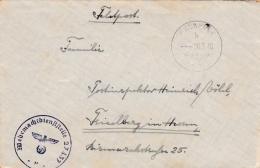Feldpost WW2: 2. Radfahr-Schwadron Panzerabwehr-Abteilung 229  FP 27437 P/m  20.3.1940 - Letter Inside (G61-2A) - Militaria