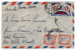 Bolivie--1948--Lettre De Bolivie Pour PARIS-France Via Buenos-Aires--Composition De Timbres+cachets - Bolivia
