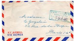 Pérou--1953--Lettre Recommandée De LIMA Pour PARIS-France -Composition De Timbres +  Cachet - Pérou