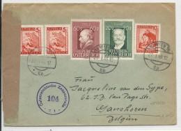 AUTRICHE - 1948 - ENVELOPPE CENSUREE De WIEN Pour GANSHOREN (BELGIQUE) - 1945-60 Brieven