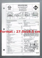 Fiche Technique General Motors France L´expert Automobile Regla´Tech Opel Vectra 2,0 L 16 V De 1993 - Cars
