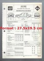 Fiche Technique Volvo France L´expert Automobile Regla´Tech Volvo 760 GLE ( V6 Avec Et Sans Catalyseur ) De 1990 - Cars