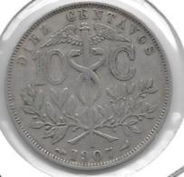 *bolivia 10 Centavos 1907  Km 174.3 - Bolivie