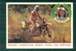 CP Christine Martin En GP Sur Honda, Verso Son Palmarès De 1977 à 1981 TB - Motorfietsen