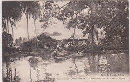 COTE D´IVOIRE. Débarcadère D'une Factorerie De Lagune - Côte-d'Ivoire