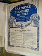 LAROUSSE 1928 N°251 AVIONS SAND CHEQUE DECO THEATRE DUNCAN FABRY GLYPTAL INDES NEERLANDAISES KIRMISSON LLIVIA MAROC PETR - Encyclopédies