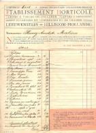 Facture Etablissement Horticole Leeuwenstein  Hillecom - Pays-Bas