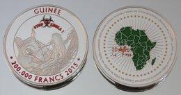 Guinée (Conakry) 200000 Francs 2015 Ebola Argent Couleurs Animal - Guinea