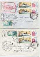 """POLAND 1988 Two Covers From Research Ship """"Profesor Siedlecki"""" With Different Cachets. - Research Programs"""