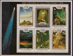 1986 Cook-Islands Mi.  Bl. 165 **MNH Halleyscher Komet. - Cook