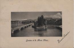 Genève - Genf - Et Le Mont Blanc - Bonne Année - GE Genf