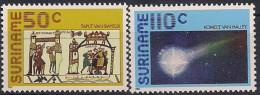 1986 Suriname  Mi.  1170-1 **MNH Halleyscher Komet. - Surinam