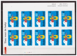 Nederland / Netherlands 1997 Birth Stork Sheet MNH - Neufs