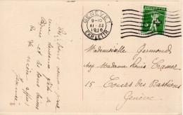 22.IV.1916   Flierstempel GENEVE 1  Op Lokaal Verzonden Paaskaart ( Dag En Maand Reversed) - Schweiz