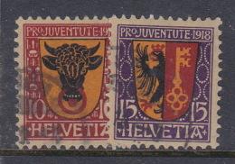 Switzerland Pro Juventute 1918 Used Set - Pro Juventute