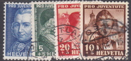 Switzerland Pro Juventute 1941 Used Set - Used Stamps