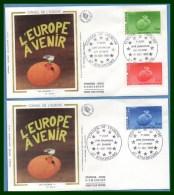 FDC Silk Soie Conseil De L' Europe Strasbourg 1985 N° S 85 /7 - FDC