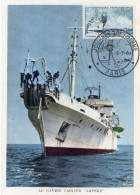 "1960 - CM - Le Navire Cablier ""AMPERE"" - Tp N°1245 - 1960-69"