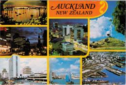 AUCKLAND    QUEEN STREET-CITY AT DUSK- WATERFRONT  ETC.      (NUOVA) - Nuova Zelanda