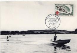 1963 - VICHY - Championnats Du Monde De Ski Nautique 3 Août 1963 - Tp N°1395 - 1960-69