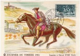 1964 - CM - Courrier à Cheval XVIIIe Siècle - Tp N°1406 - 1960-69
