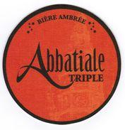 SOUS-BOCK BIERE AMBREE ABBATIALE TRIPLE / BIERE BLONDE ABBATIALE TRIPLE - Sous-bocks