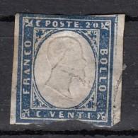Sardaigne  Victor Emmanuel II  20c Bleu  YT N°12 - Sardaigne