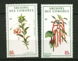 Comores ** PA N° 37 - 38 - Fleurs - . Prix 4,60€ + Port - Comores (1950-1975)