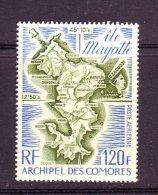 Comores ** PA N° 61 - Carte De L' Ile Mayotte- . - Neufs