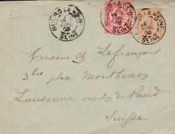"Entier Postal Type ""Mouchon "" (n°215 Yvert ) -  - Scan Recto-verso"