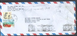 China Airmail Republic Of China Postal History Cover Sent To Pakistan - 1949 - ... Volksrepubliek