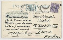 USA - 1918 - CARTE POSTALE Avec CENSURE + MECA DRAPEAU De HONOLULU (HAWAII) Pour PARIS - Hawaii
