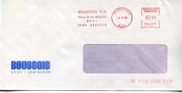 EMA Industrie Verre,glacerie De Boussois,Boussois SA,59 Boussois,Nord,lettre Obliterée 6.2.1985 - Chimica