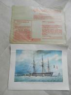 FINATHEQUE Portrait De Navires N0 1 à 8 N°7 Vaisseau Deux Ponts  Offert Par FINA - Bateaux
