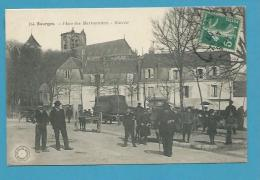 CPA 154 - Marchands Ambulants Marché Place Des Marronniers BOURGES 18 - Bourges