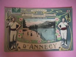 2556 ANNECY Souvenir Des Fêtes Concours De Gymnastique Juin 1908 - Annecy