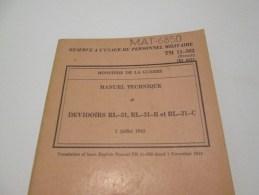 MAT-6850 DEVIDOIR RL-31,RL-31-B Et RL-31-C   2 Juillet 1945 - Books, Magazines  & Catalogs
