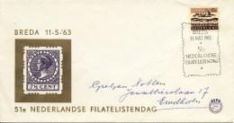 51e Nederlandse Filatelistendag - Met Adres / Open Klep (1963) - Period 1949-1980 (Juliana)