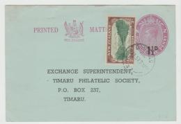 Nz178 /  Timaru Ganzsache Mit Zusatzmarke 1957, Verwendete Ortskarte - Neuseeland