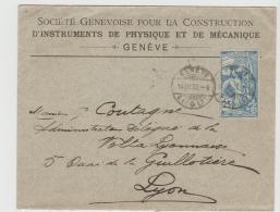 CH063 / Mi.Nr. 73, Geneve - Lyon 14.3.00 In Besterhaltung - 1882-1906 Armarios, Helvetia De Pie & UPU