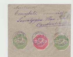 Tur105a / Thessalien Unter Türk. Besetzung April - Juni 1898. EXTREM SELTENER BELEG!! - 1858-1921 Osmanisches Reich