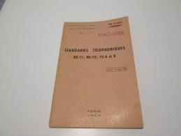 MAT-6838 Standards Telephoniques BD-71;BD-72;72A Et B - Books, Magazines  & Catalogs